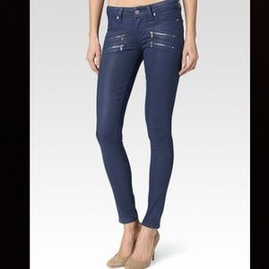 Paige edgemont cornflower blue skinny pant jean 28